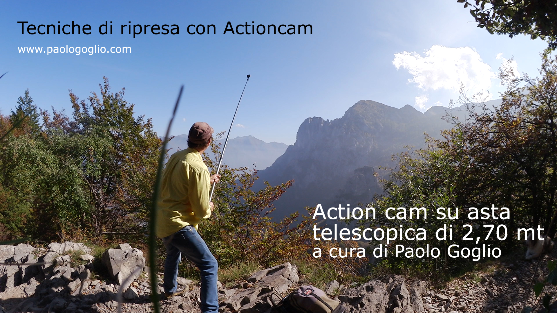 Tutorial video e foto di riprese con actioncam su asta telescopica